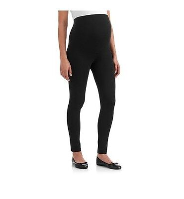 Oh! Mamma Full Panel Maternity Leggings, Black, Small