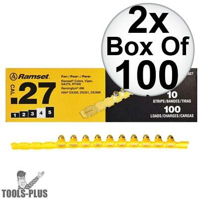 "Ramset 4RS27 2pk 10 Strips of 10 (200 total) #4 ""Yellow"" 27 cal Strip Loads New"