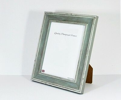 PIGEON BLUE Shabby Chic Photo/Picture Frame -Various Sizes available EXTRA WIDE