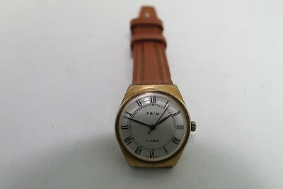 Old Vintage Man Wrist Watch  Chech Prim Gold Plated