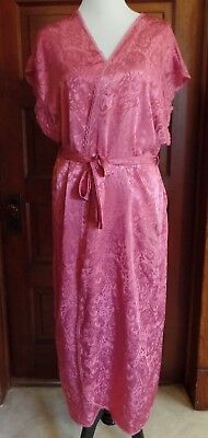 Vintage LUCIE ANN II Pink Fuchsia Dressing Gown Robe Women's Size Large