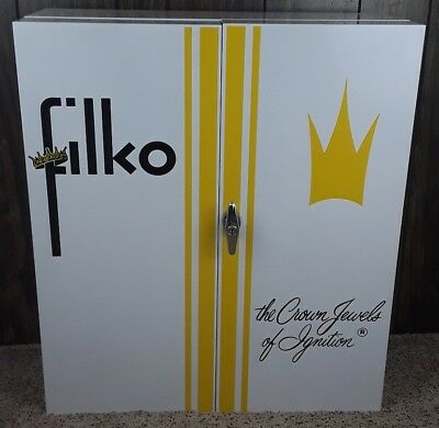 Rare New! 1940's or 50's NOS Vintage FILKO CROWN JEWEL Parts Cabinet Great Shape