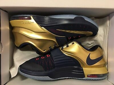 Nike KD 7 Gold Medal Navy VII Mens size 10.5 NEW Never worn
