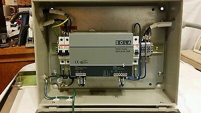 Sola Power Supply SDN-20-24-100P mounted and wired in a Rittal Nema-12 Enclosure