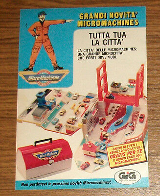 Seltene Werbung Galoob MICRO MACHINES Super City Toolbox Action Playset IT 1990