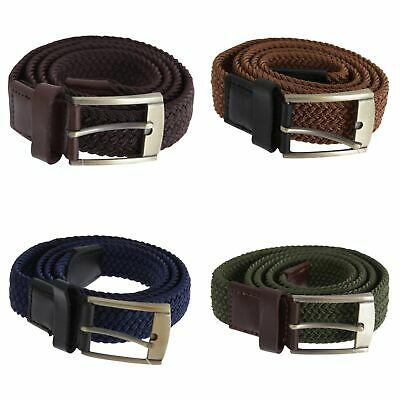 Forests Belts Mens Elasticated Webbed Belt Trimmed With Real Leather (BL163)