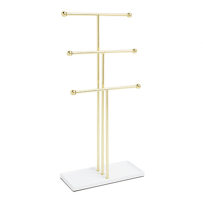 Tbar Extra Tall Simple Jewelry Stand Necklace Bracelet Tree Display Holder Bras