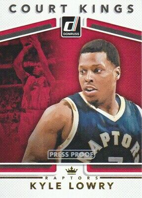 2017-18 Donruss Court Kings Press Proof #26 Kyle Lowry Toronto Raptors