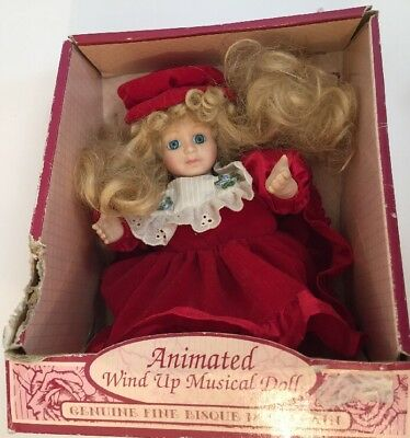 "Animated Porcelain Doll ""Soft Expressions""Genuine Fine Bisque Porcelain Doll"