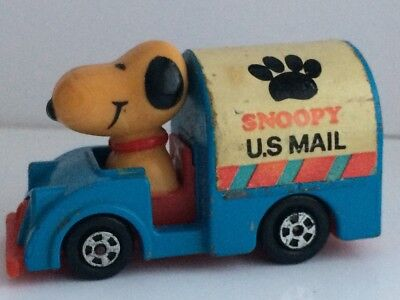 Vintage Toy- Snoopy in US Mail Truck, 1966, Aviva, United Feature Syndicate