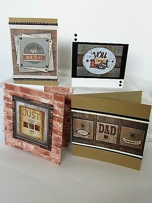 "DoCrafts Men/'s Card Blanks /& Kits,2 Different 6/"" x 6/"" Packs 1 Kit Best Dad"
