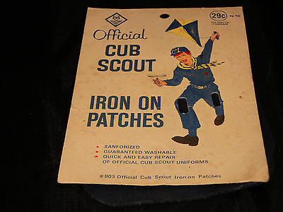 Vintage Official Cub Scout, Iron on Knee Patches