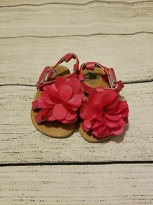 Baby girls hot pink boutique sandals size 6-12 months
