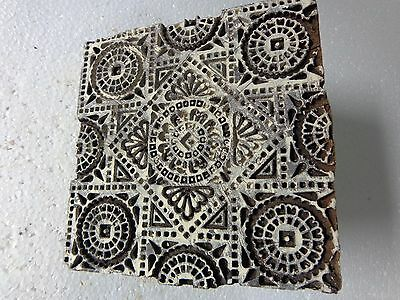 Vintage Hand Carved Wood Block Stamps fabric Prints tools B16 Aged Early India