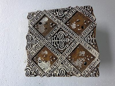 Vintage Hand Carved Wood Block Stamps fabric Prints tools B9 Aged Early India