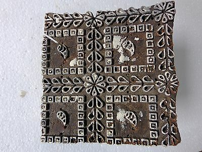 Vintage Hand Carved Wood Block Stamps fabric Prints tools B6 Aged Early India