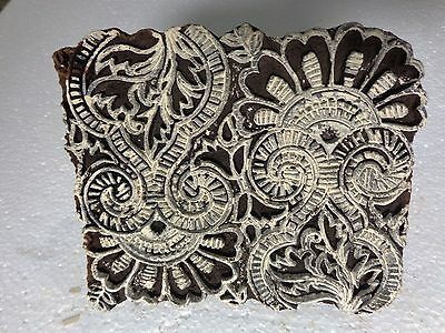 Vintage Hand Carved Wood Block Stamps fabric Prints tools B10 Aged Early India
