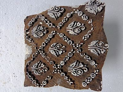 Vintage Hand Carved Wood Block Stamps fabric Prints tools B17 Aged Early India