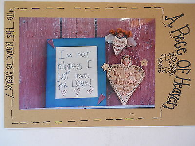 Primitive Angel Sampler & Pin Sewing & Stitchery Pattern by A Piece of Heaven