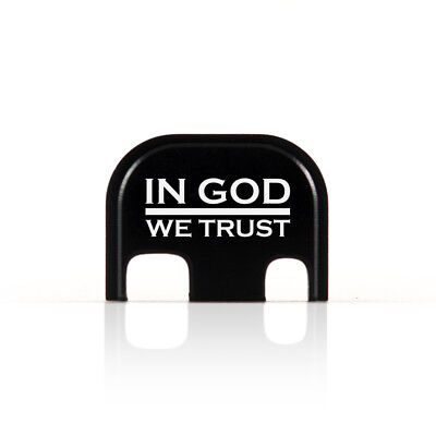 In GOD We Trust Rear End Cover Back Slide Plate for Glock thin blue line police