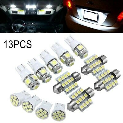 13x White LED Light Interior Lamps T10 31mm Festoon Map Dome License Plate cyp