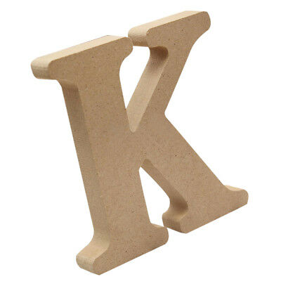 Plain Wooden Letters Plaque Alphabet Wall Hanging Craft Home Nursery Decor K