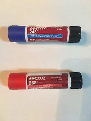 Loctite 37684 Blue 248 Medium Strength & 37685 Red 268 High Strength, 1 of EACH!