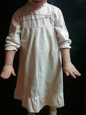 Vintage 1950s baby girl pajamas robe nightgown toddler 3 4 5 flannel radiant