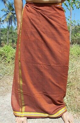 Indian Cotton Lungi Sarong Dhoti Different Colours Available Men or Women