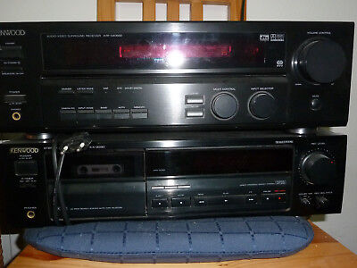 Kenwood Receiver KRF-V4060D + CD Player DP 1080 + Casetten Deck KF-3030 KENWOOD