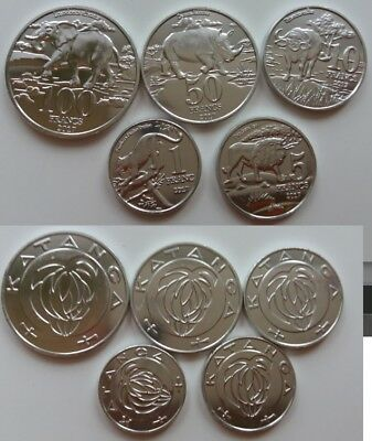 KATANGA 2017  5 coins Animals