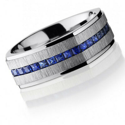 Cobalt Chrome 8mm Flat EuroSquare Band with Grooved Edges