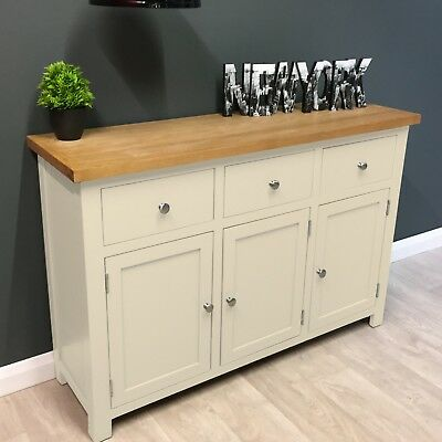 Cream Painted Oak Sideboard / Large / Cotswold /Solid Wood / Ivory / Dresser/New