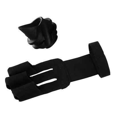 45 Degree Compound Bow Hooded Peep Sight Plus Archery 3 Finger Glove Guard