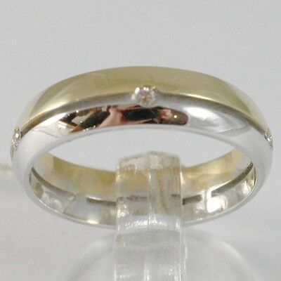 White Gold Ring Yellow 750 18K,faith Engagement Ring With Diamonds Ct 0.05,