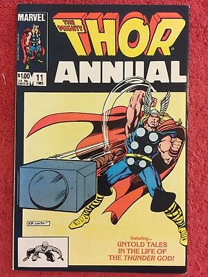 Thor 1st Annual 11 Marvel LOT of 1 1983 Zelenetz Hall Colletta Layton