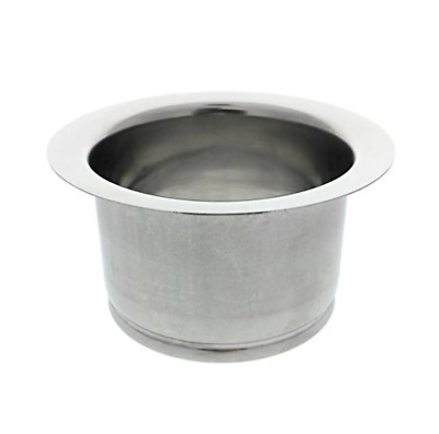 Essential Values Deep 3 Bolt Sink Flange   Polished Stainless Steel