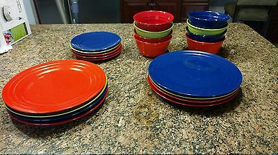 RACHEL RAY DOUBLE Ridge Dinnerware Dinner Plate OR Salad plate EUC ...
