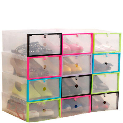 Attrayant 4/8/12/20PCS Foldable Plastic Drawer Case Shoe Storage Containers Box  Organizer