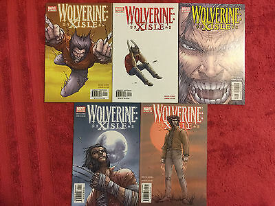 Wolverine Xisle 1 2 3 4 5 Marvel 2003 RUN of 5 Complete VF/NM Bruce Jones