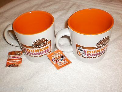 2 New Dunkin Donuts Restaurant Bakery Series Coffee Mug Cup