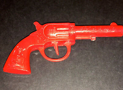 """1950's CHILD'S 5.5"""" HARD PLASTIC """"CLICKER"""" TOY COWBOY SIX-SHOOTER - EXCELLENT!"""