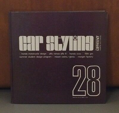 Car Styling Magazine Book #28 1979, Honda Motorcycle Design, Alfa Romeo, Morgan