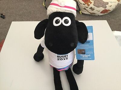 SHAUN THE SHEEP large soft toy 43cm 2015 OFFICIAL RUGBY MASCOT new with tags