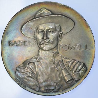 Boer War - 1900 Lieutenant General Baden Powell toned silver medal by Spink