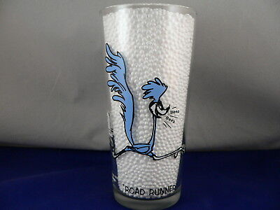"WARNER BROS. 1973--PEPSI-6 5/16"" ROAD RUNNER, 16oz., THICK GLASS TUMBLER"