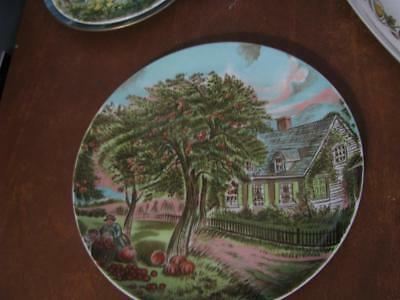 Currier and Ives American Homestead Autumn Plate 10 1/4""