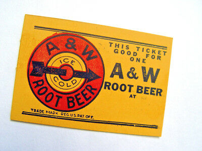 Vintage  Little A&w Root Beer Card With Old Fashion Advertising Sign Trademark