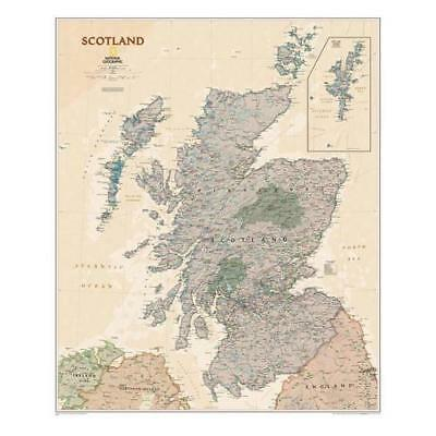 Scotland Executive, Laminated by National Geographic Maps