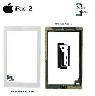 Pantalla Tactil Digitalizador Cristal + Adhesivos + Home Apple Ipad 2 Blanco